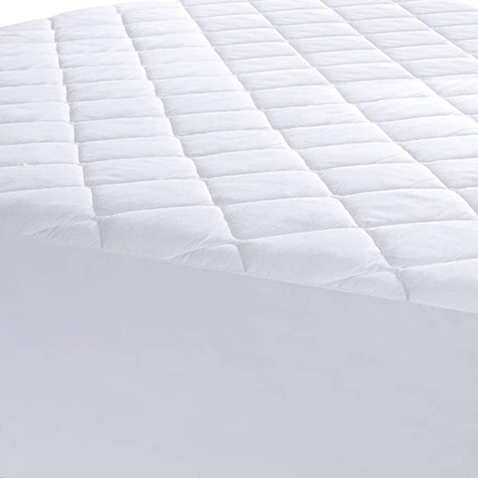 Quilted Fitted Mattress Pad Queen