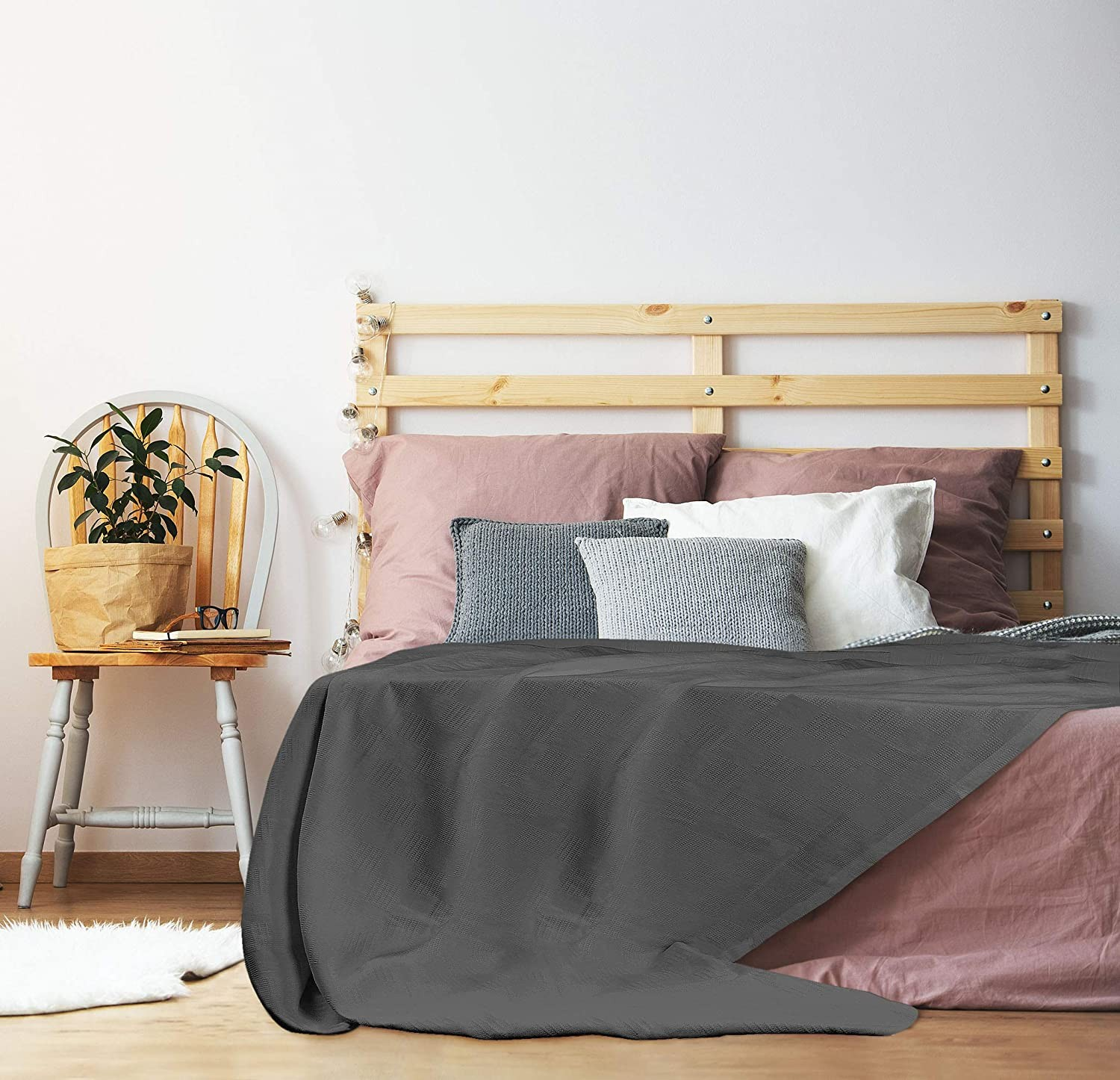 Premium Cotton Blanket Queen Grey
