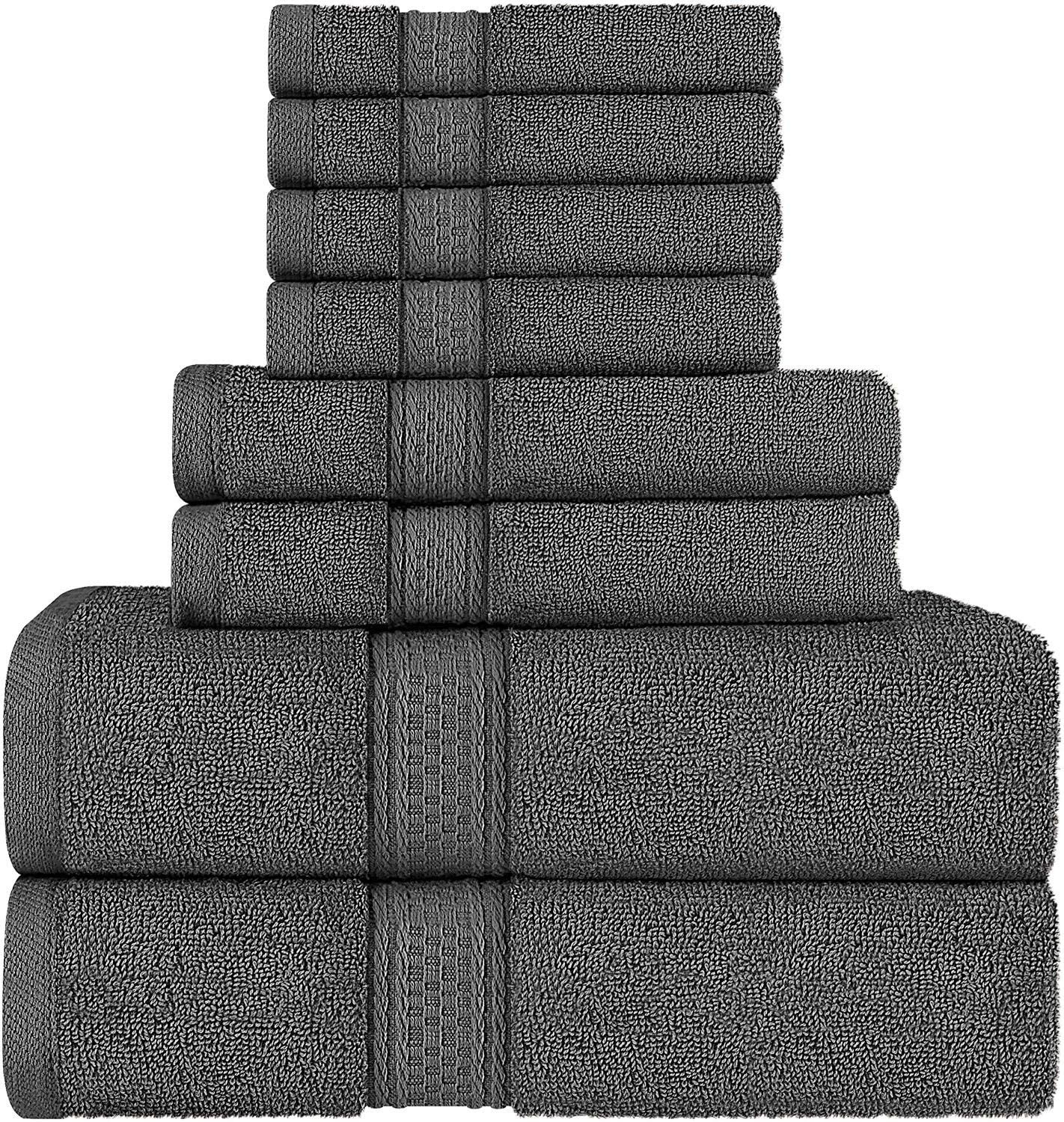 Grey 8 Piece Towel Set