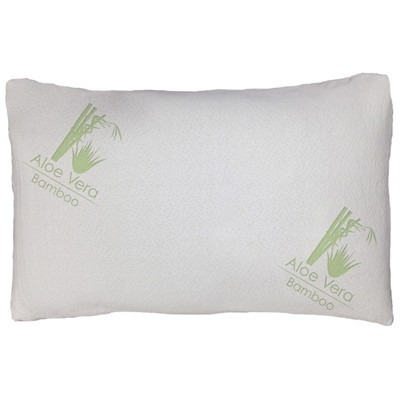 Aloe Vera Bamboo Pillow-  Queen Size