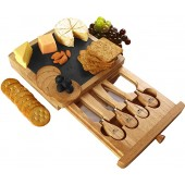 Cheese Board and Knife Set - 5-Piece Set