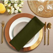 12 Pack Olive Cloth Dinner Napkins 18x18