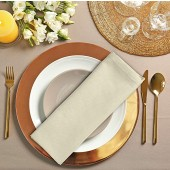 12 Pack Ivory Cloth Dinner Napkins 18x18