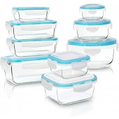 Glass Food Storage Container Set - 18 Pieces