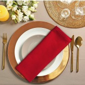 12 Pack Red Cloth Dinner Napkins 18x18